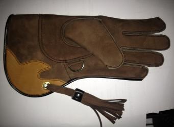 Short Cuff Glove Brown (#12) Left hand