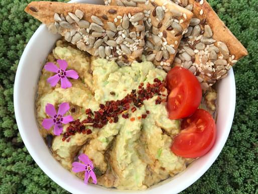 Хумус из зелёного горошка (веган, без глютена)
