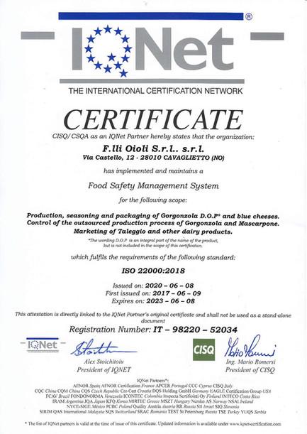 Certificazione IQNet