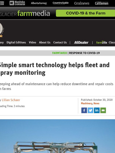 Smart Monitoring Technology Featured in Farmtario