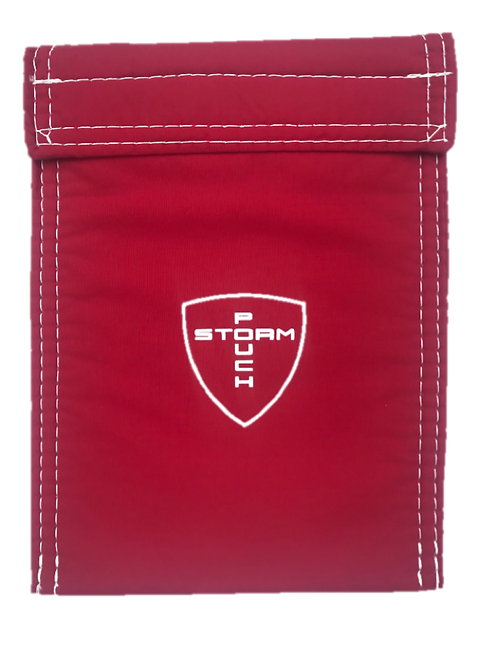 STORM POUCH - RED/WHT
