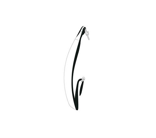 JONES ORIGINAL BAG STRAP - WHT/BLK