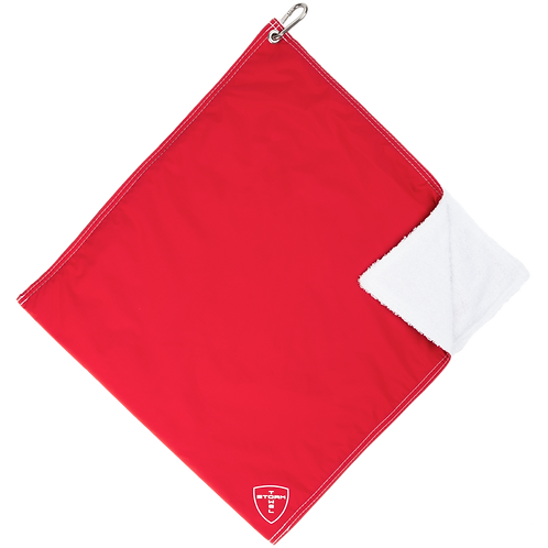 STORM TOWEL - RED/WHT