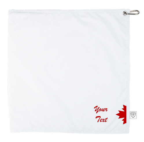 STORM TOWEL - WHT/WHT - RED MAPLE