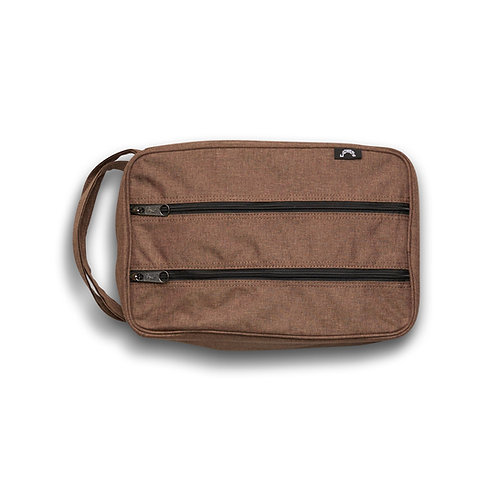 JONES CLASSIC SHOE BAG - HTH/BRN