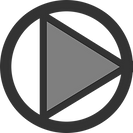 A play symbol, to represent videos learners can watch online.