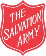 The logo for the Salvation Army. It says Salvation Army in white writing on a red background.