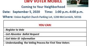 W.I.N & LWV Voter Registration
