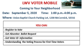 W.I.N & LWV Voter Registration