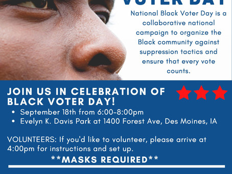 Sept 18: National Black Voter Day