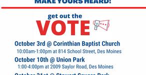 Upcoming Voter Registration Events