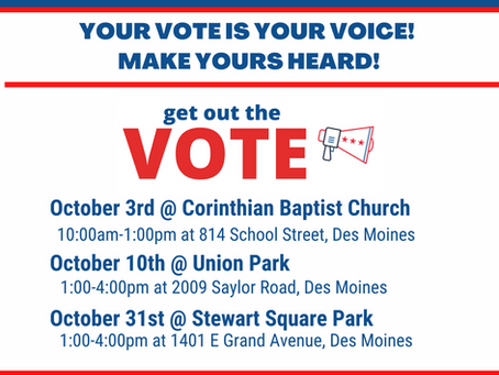 Upcoming Voter Registration Events