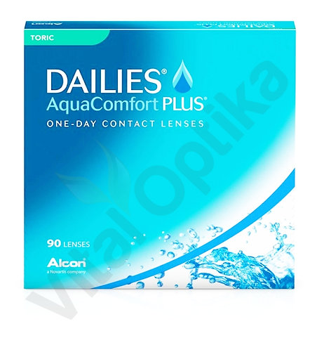 Dailies AquaComfort Plus Toric kontaktlencse (90db) (+0,25 D-tól +4,00 D-ig)
