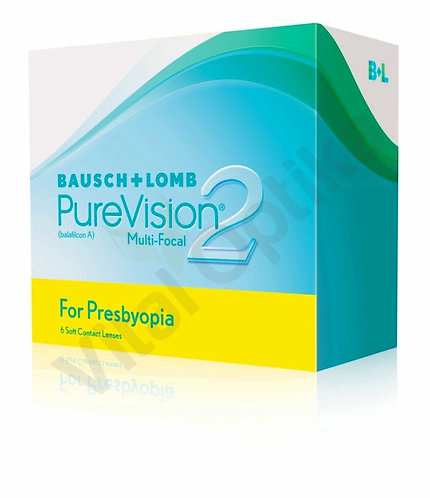Pure Vision 2 for Presbiopia kontaktlencse (6 db) (-6,25 D-tól -10,00 D-ig)