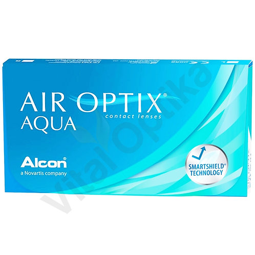 Air Optix Aqua kontaktlencse (6 db) (+0,25 D-tól +6,00 D-ig)