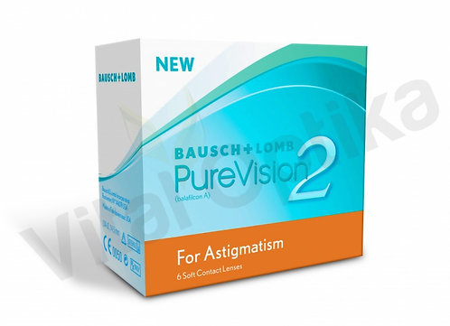 Pure Vision 2 for Astigmatism kontaktlencse (6 db) (-0,25 D-tól -9,00 D-ig)