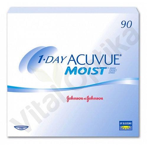 1-DAY Acuvue Moist kontaktlencse (90 db) (+0,50 D-tól +6,00 D-ig)