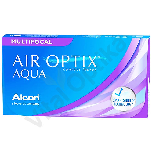 Air Optix Aqua Multifocal kontaktlencse (3 db) (+0,25 D-tól +6,00 D-ig)