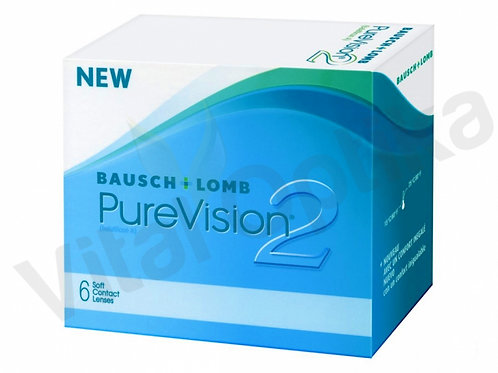Pure Vision 2 kontaktlencse (6 db) (-0,25 D-tól -6,00 D-ig)