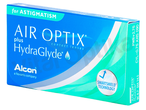 Air Optix HydraGlyde for Astigmatism kontaktlencse (6 db) (+0,25 D-tól +6 D-ig)