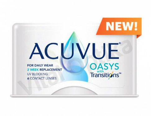 Acuvue Oasys with Transitions kontaktlencse (6 db) (+0,50 D-tól +8,00 D-ig)