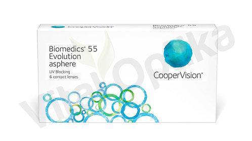 Biomedics 55 Evolution kontaktlencse (3 db) (+0,25 D-tól +8,00 D-ig)