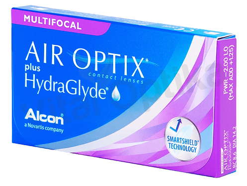 Air Optix Plus HydraGlyde Multifocal kontaktlencse (3 db) (-6,25 D-tól -10 D-ig)