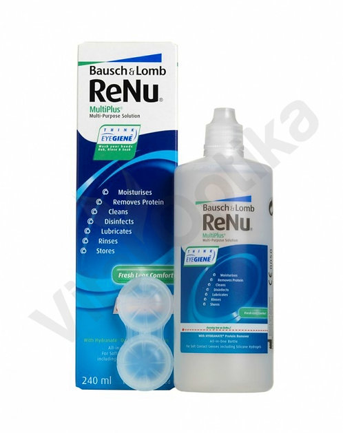 Renu Multiplus (240 ml) kontaktlencse folyadék tokkal
