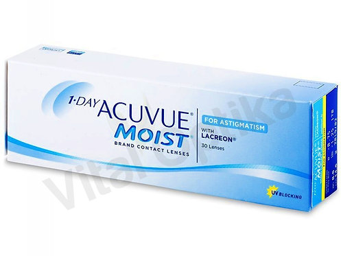 1-DAY Acuvue Moist for Astigmatism kontaktlencse (30 db) (-6,50 D-tól-9,00 D-ig)