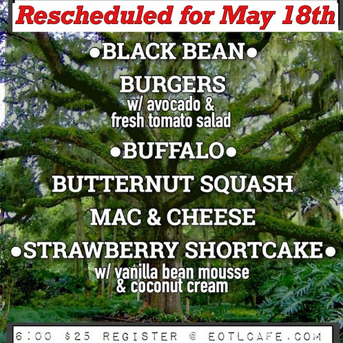 May 18 Cooking Class (postponed from March 23)