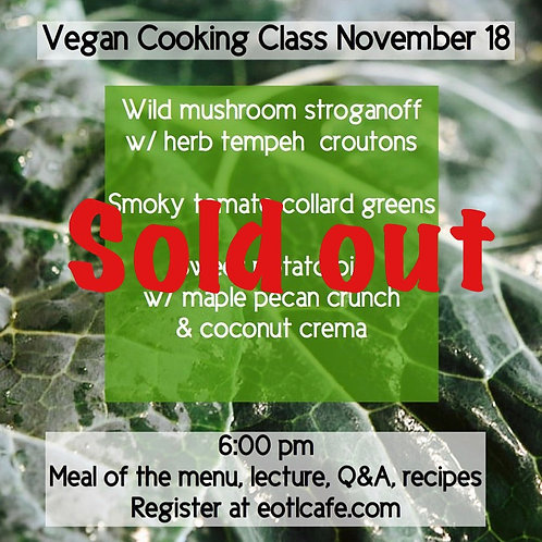 Cooking class 11/18