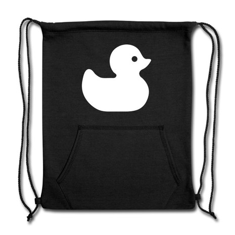 Rubber Ducky (White on Colour) Sweatshirt Cinch Bag