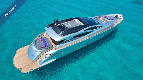 Pershing Yacht for Charter Balearics | WYB