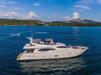 Quo Vadis Ferretti Yacht for Charter Croatia   WYB
