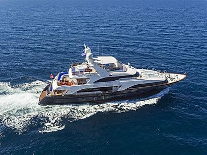 Option B Benetti Yacht for Charter Greece Adriatic