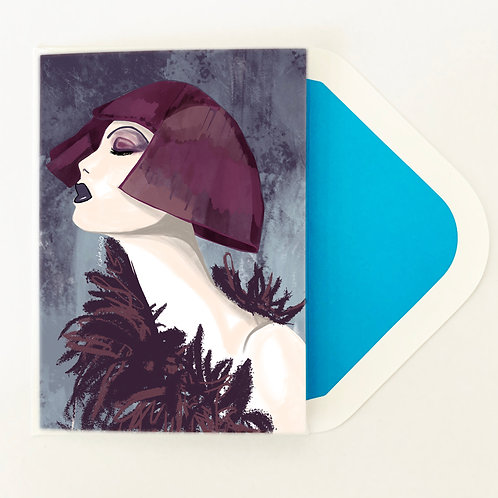 Greeting Card | Geo Feather