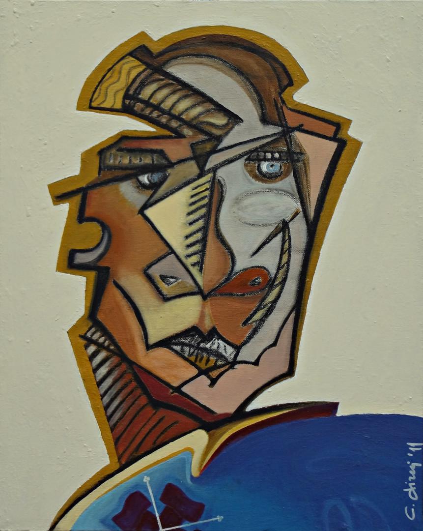 Il cavaliere Costantiniano_mista su tela 30x40 anno 2011.JPG