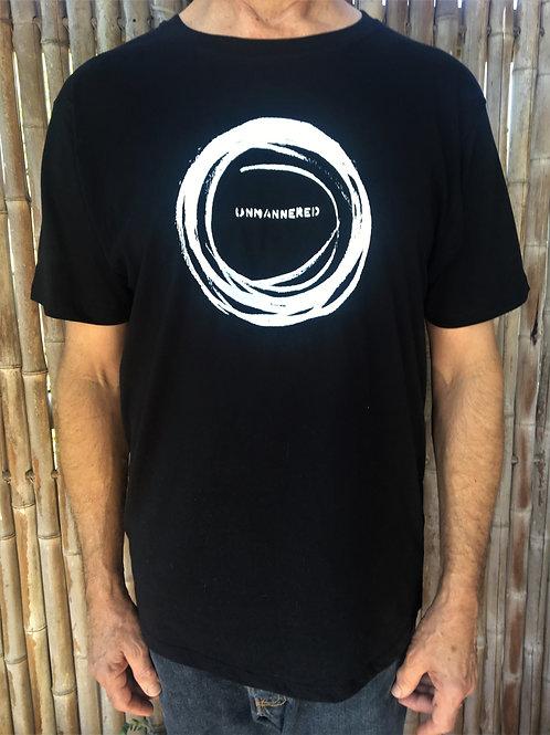 men's/unisex 'unmannered' organic cotton artshirt