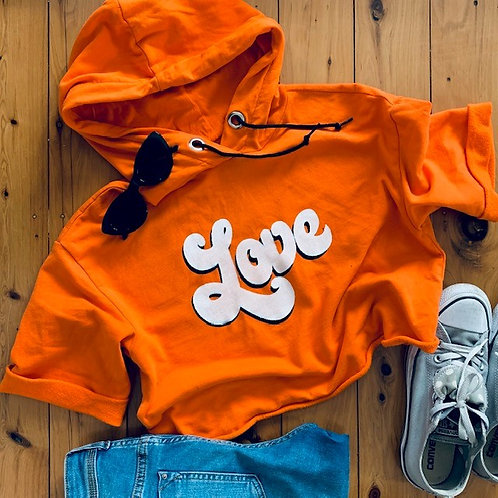 share the Love cropped hoodie