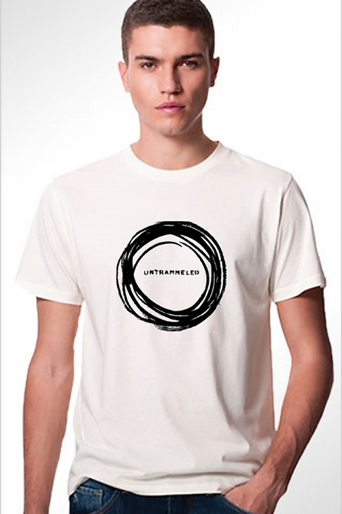 'untrammeled' organic cotton men's/unisex light grey tshirt