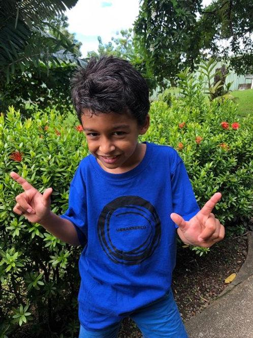 'untrammeled' or 'unmannered' cotton kids tshirt