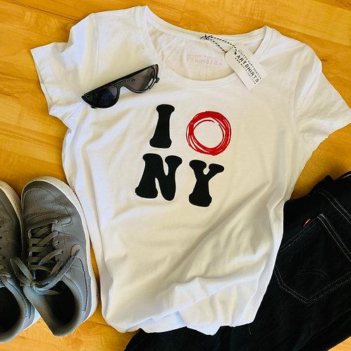 70s minimalist IONY women's organic cotton tshirt
