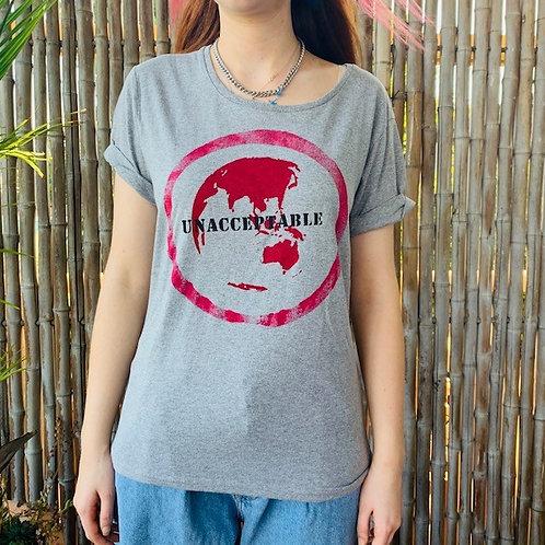 women's rolled sleeve eco-Punk artshirt