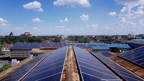 Solar rooftop system on commercial and industrial customers in Ghana, West Africa