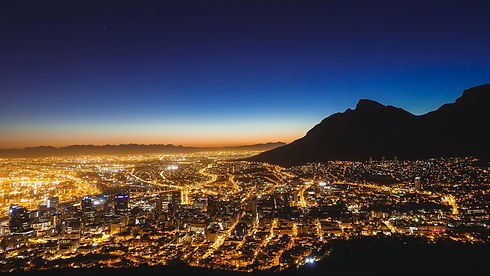 City in the dark with reliable power supply