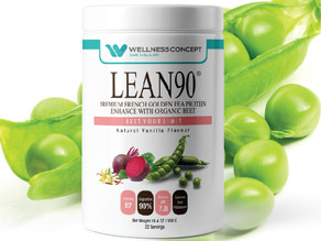 LEAN90 Alkaline Plant-based Protein Powder – specifically designed for Wellness and Fitness