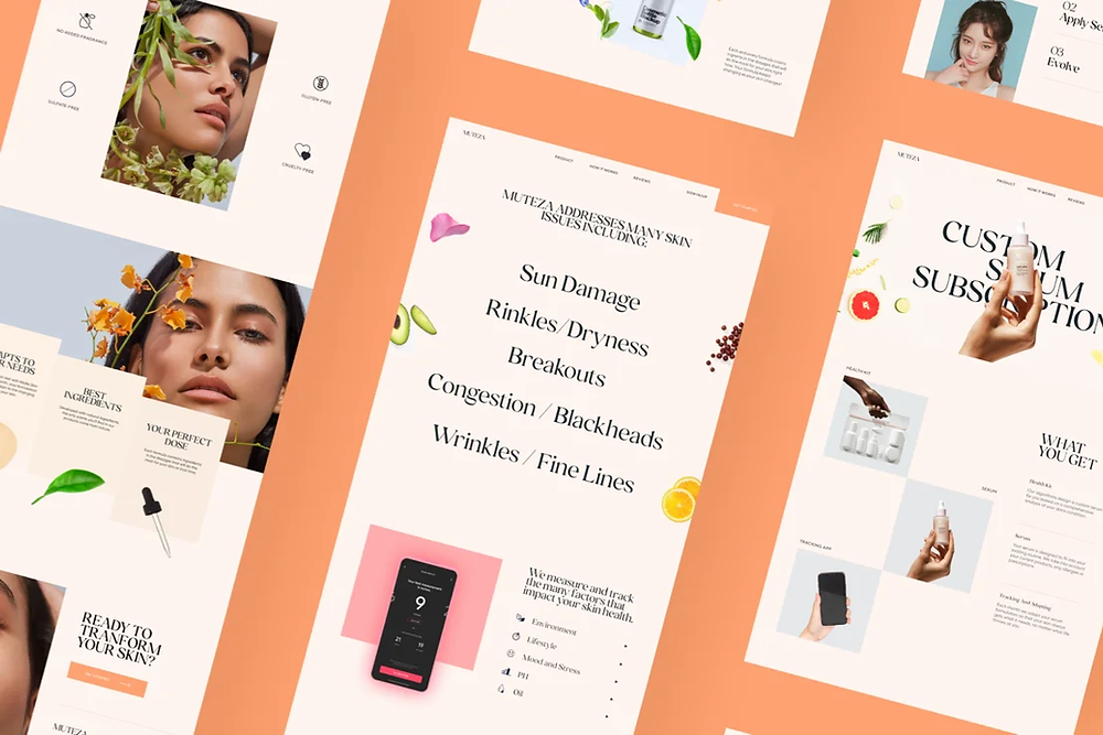 Screens from a website design by Abhishek Jha
