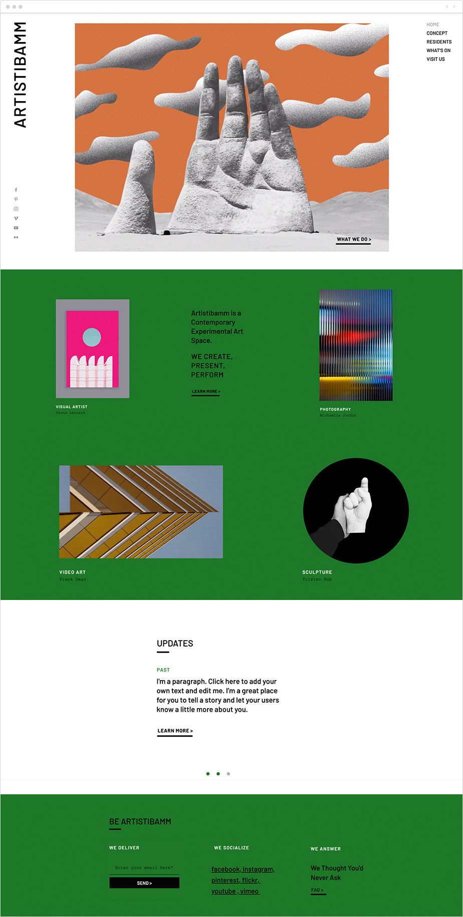 Design cooperative portfolio template