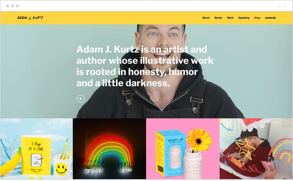 Adam J. Kurtz personal website example