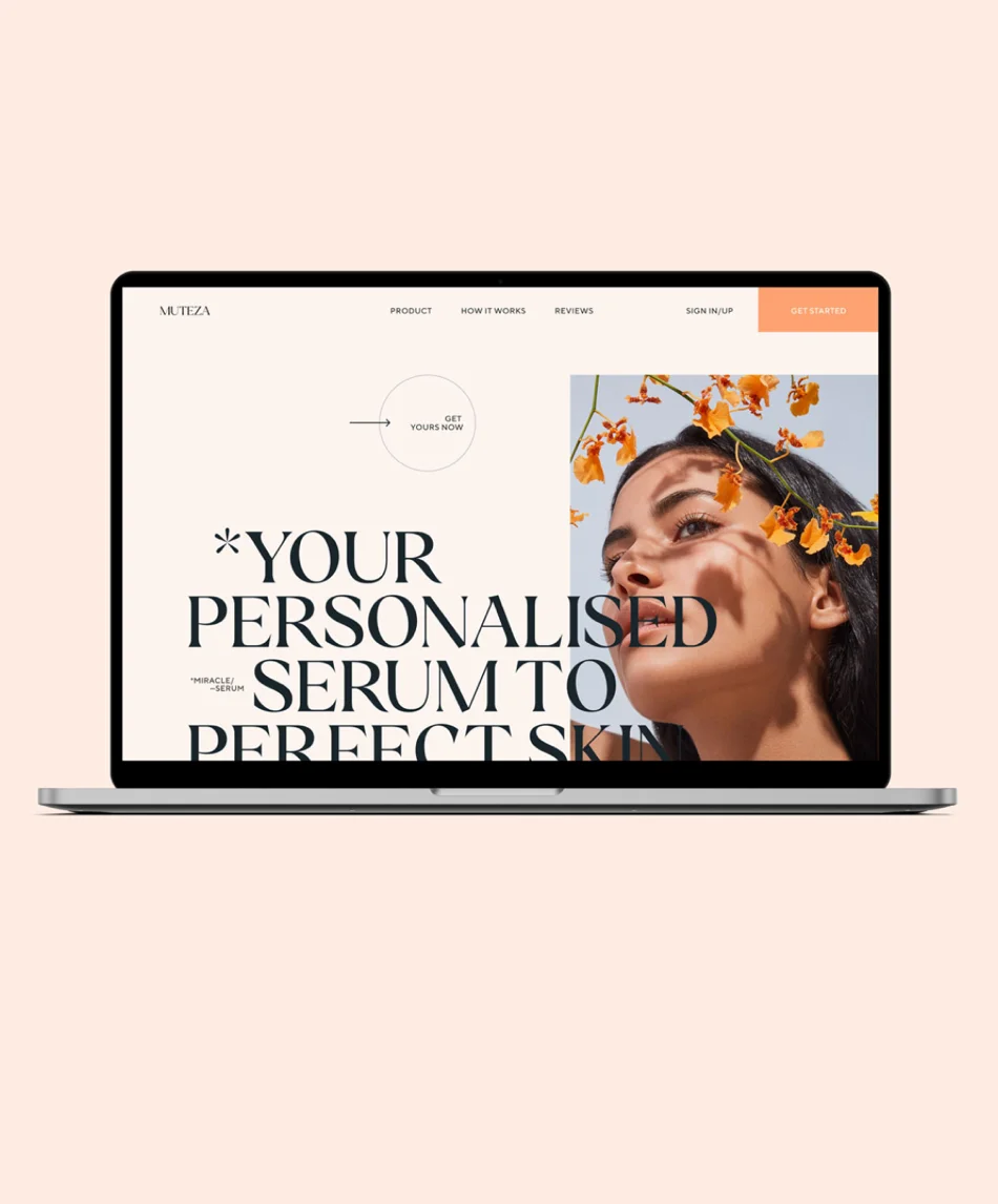 A laptop with a website designed by Abhishek Jha